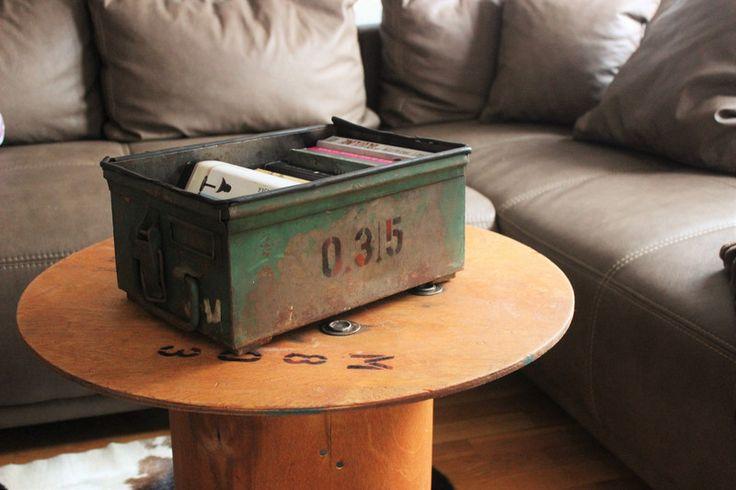 Kisten & Boxen - Metallkiste Bücherkiste  - ein Designerstück von Pfaennle bei DaWanda