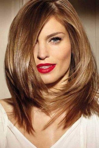 corte de cabelo médio repicado para jovens senhoras - medium haircut