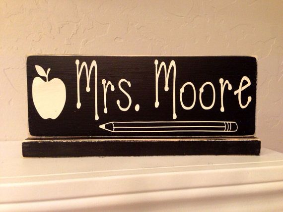 Hey, I found this really awesome Etsy listing at https://www.etsy.com/listing/107222430/teachers-name-plate