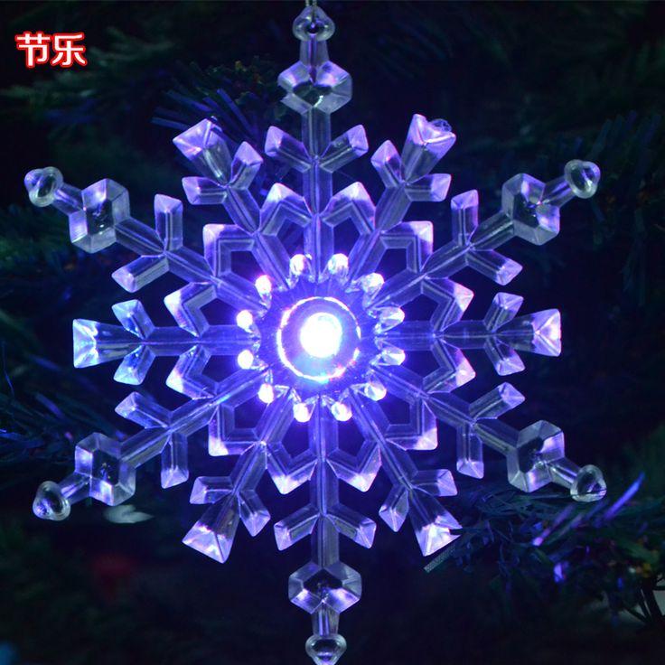 Goedkope kerst sneeuwvlok decoratie stuk led verlichting sneeuwvlok lichtgevende diameter 14cm kerstboom, koop Kwaliteit kerst decoratie benodigdheden rechtstreeks van Leveranciers van China: product details