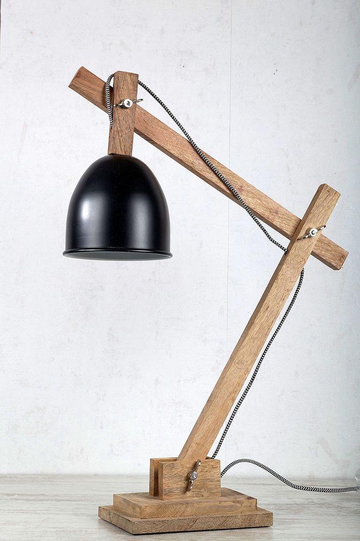 Schreibtischlampe Holz Schwarz - 149,95€