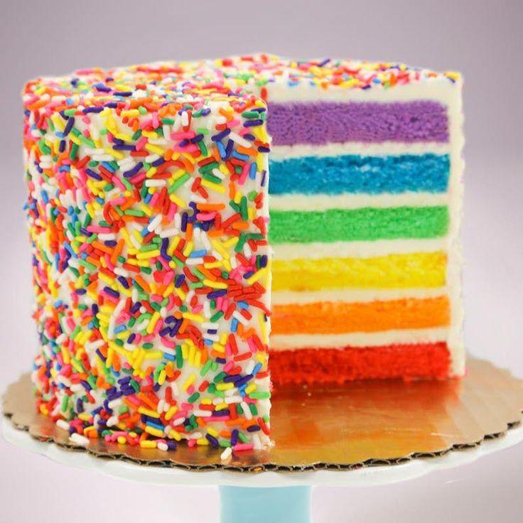 Rainbow cake savoury cake mini cakes rainbow cake