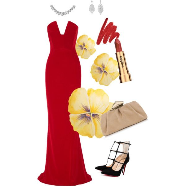Untitled #9 by kukii on Polyvore featuring polyvore, fashion, style, Cushnie Et Ochs, Jimmy Choo and Sisley