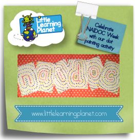 Here is a fun, educational NAIDOC week activity that teaches letter recognition.