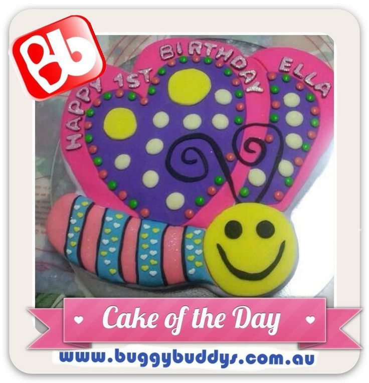 Butterfly Birthday Cake  For kids party ideas in Perth, WA see the Buggybuddys website. http://www.buggybuddys.com.au/kids_party_perth.html