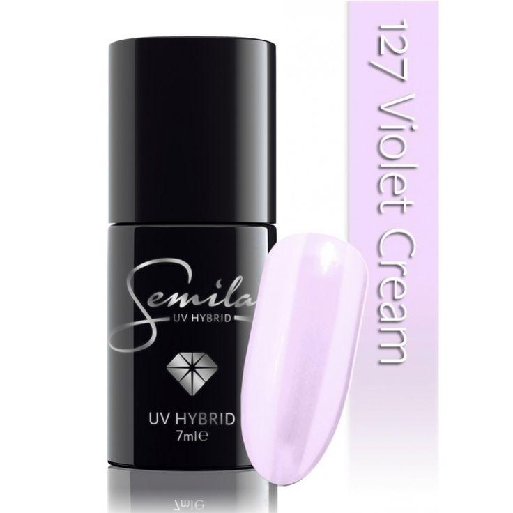 Ημιμόνιμο μανό Semilac - 127 Violet Cream 7ml - Semilac | Προϊόντα Μανικιούρ - Πεντικιούρ Semilac & Ημιμόνιμα.