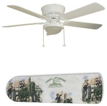 """Old Fashion John Deere 52"""" Ceiling Fan with Lamp - eclectic - ceiling fans - New Image Concepts"""