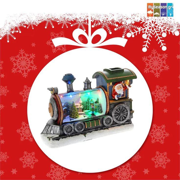 Photo: Το #MySeason προτείνει μια χαρούμενη νότα στην εορταστική σας διακόσμηση με ένα Χριστουγεννιάτικο φωτιζόμενο τρενάκι με ήχο και κίνηση, που θα ξετρελάνει μικρούς και μεγάλους αυτά τα #Χριστούγεννα!  https://goo.gl/JVOmvl  #christmas #christmas2016 #christmasshopping #christmasdecor #xmasdecor #holiday #festiveseason