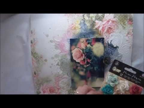How to scrapbook 'Beauty' page for MCS kit club