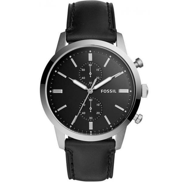 Men S Fossil Watch Townsman Fs5396 Quartz Chronograph Mit Bildern Lederuhren Uhren Herren Fossil Uhren