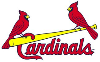 """St. Louis Cardinals - Wikipedia, the free encyclopedia. The current """"birds on the bat"""" logo introduce in 1998."""