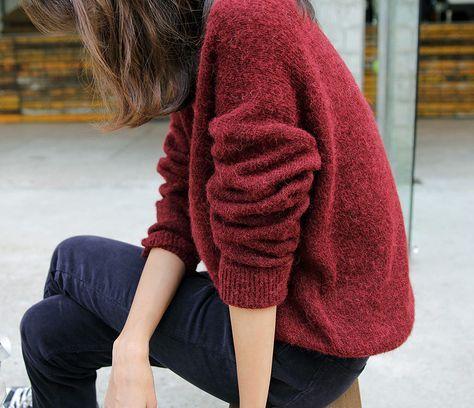 Теплый большой свитер; яркий