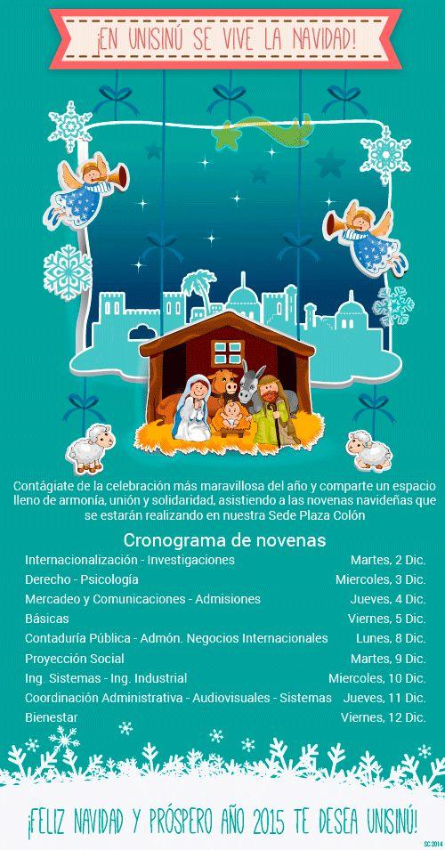 Tarjeta animada, Horario novenas Universidad del Sinú 2014