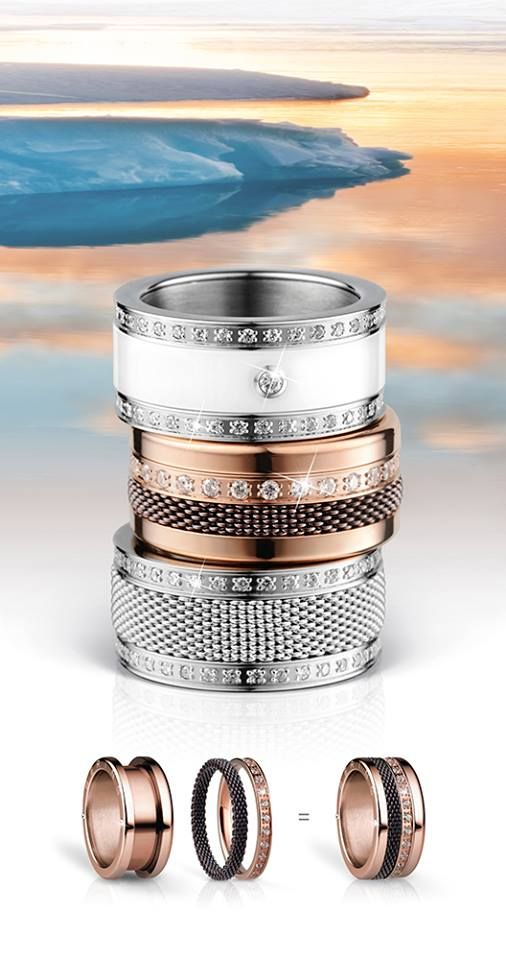 Twist & Change System - your ring is your style! BERING jewellery; Arctic Symphony Collection
