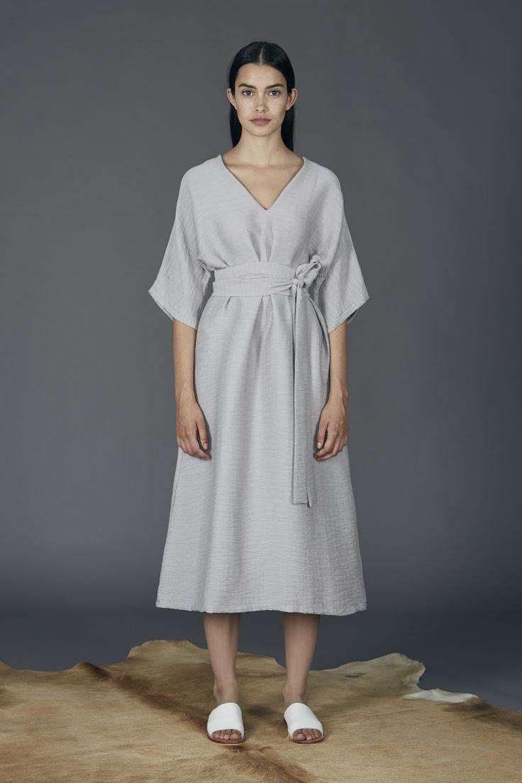 Kyoto Dress - Silver Grey
