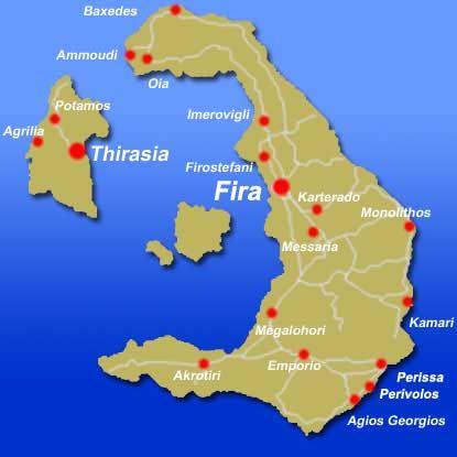 A map of Santorini