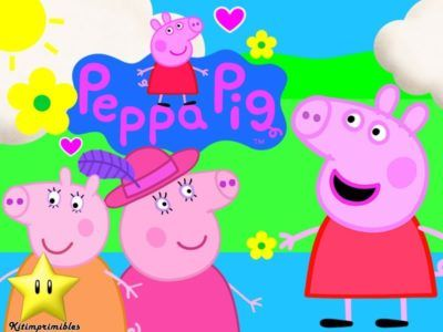 Dibujos Peppa Pig Para Imprimir y mama