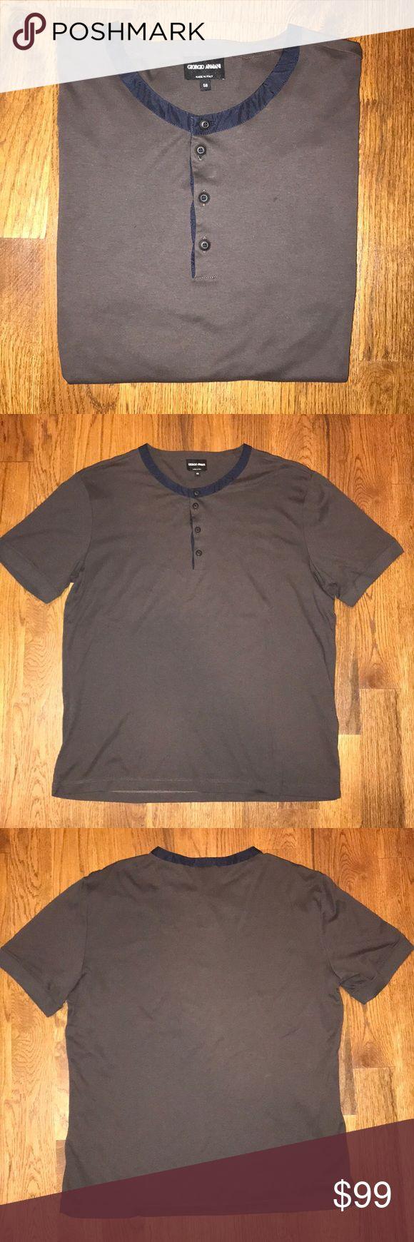 Authentic Giorgio Armani Henley Authentic Giorgio Armani Henley Giorgio Armani Shirts Tees - Short Sleeve