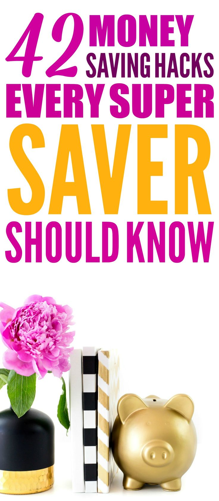 These 42 Money Saving Hacks every saver should know are THE BEST! I'm so glad I found these AMAZING money tips! Now I have great ways to save money on almost everything in my life! Definitely pinning!