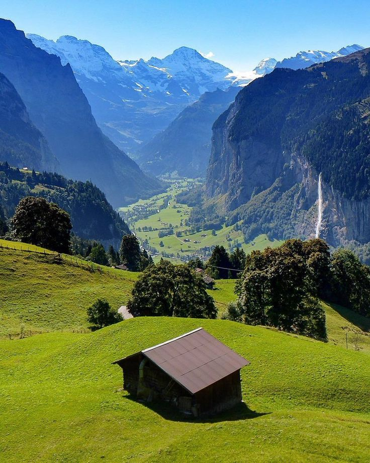 The glacially carved Lauterbrunnen valley in Switzerland