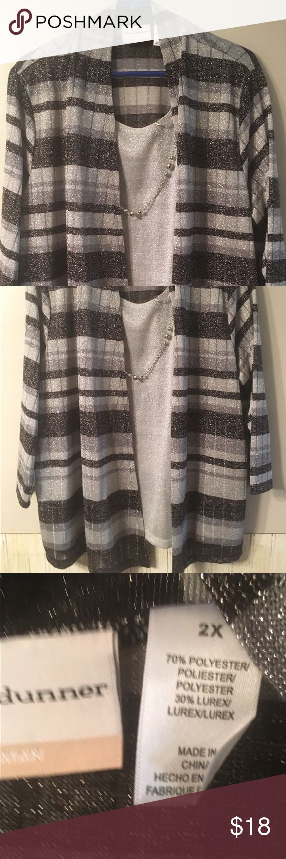 Layered look Alfred Dunner Layered Look Top. New without tags. Alfred Dunner Tops Blouses