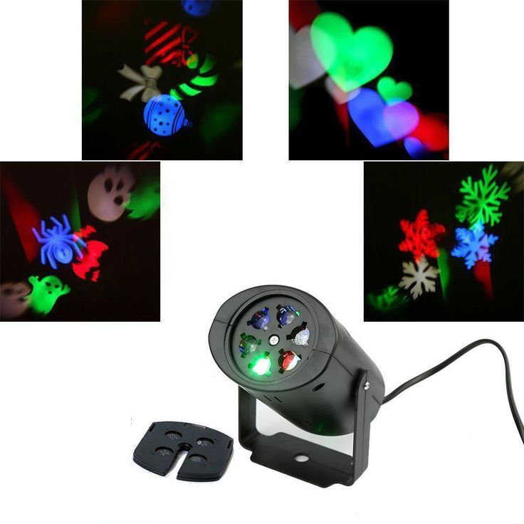 Christmas Multi-Color Moving Sparkling Led Snowflake Laser Projector Wall Lamp