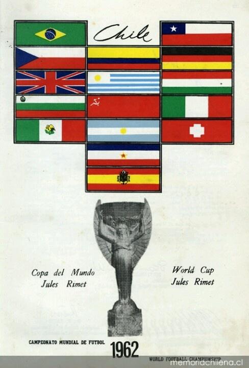 Afiche mundial de fútbol Chile 1962 (vía @memoriachilena)