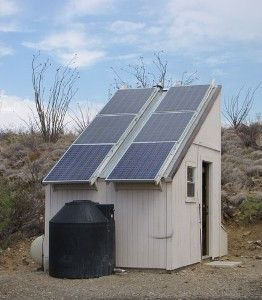 solar energy and water storage shed
