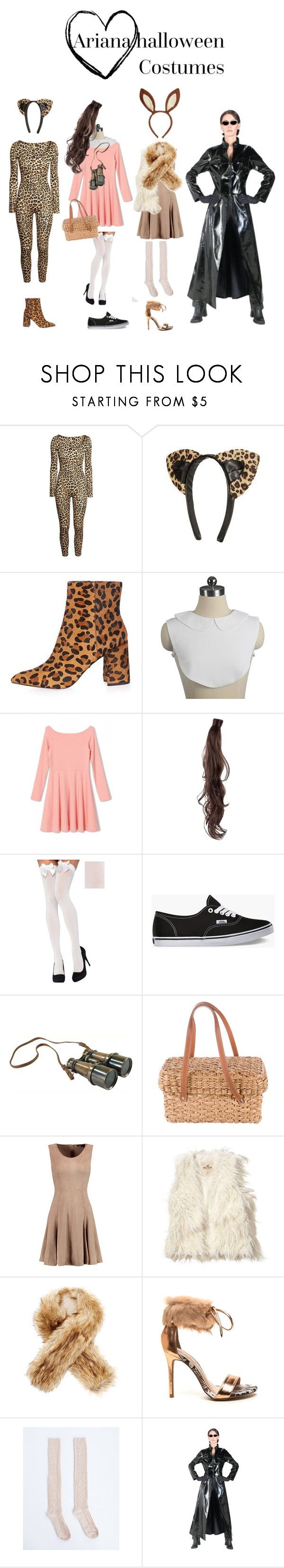 """Ariana Halloween costumes"" by screamqueengabi ❤ liked on Polyvore featuring H&M, Topshop, WithChic, Rapunzel Of Sweden, Vans, Authentic Models, Kate Spade, Halston Heritage, Hollister Co. and Buji Baja"