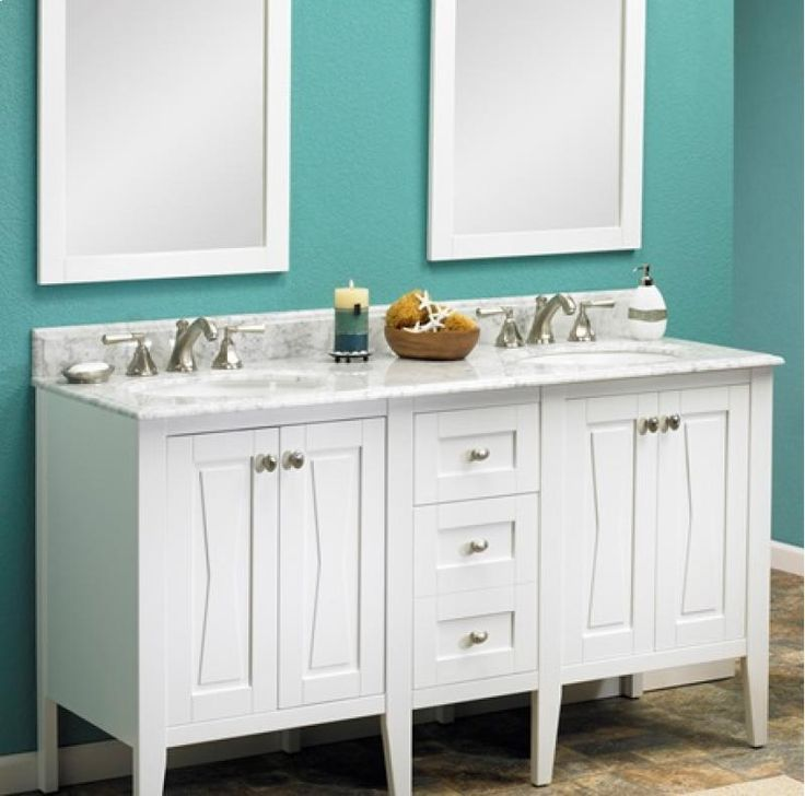 Images Photos Fairmont Designs Bowtie Modular Modern Bathroom Vanity in Polar White