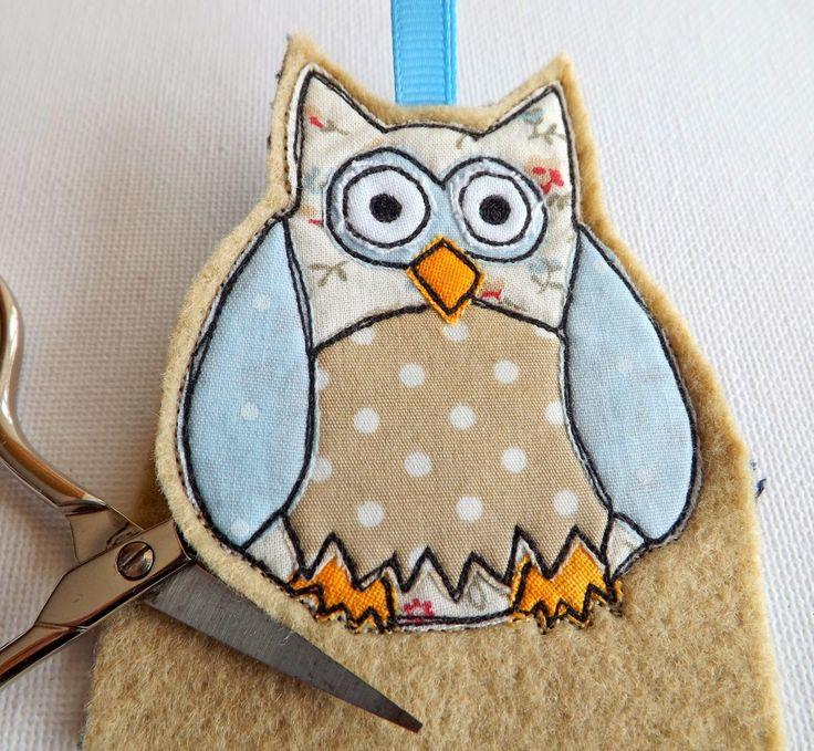 SewforSoul ~ Appliqued Felt Owl Charm with Full Tutorial