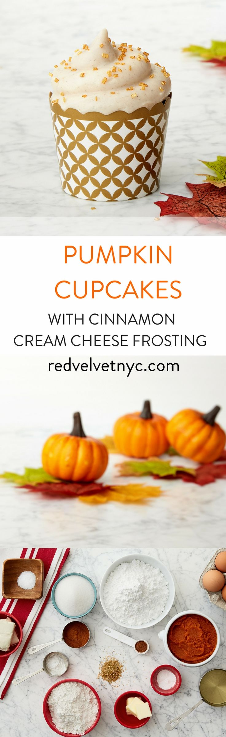 Easy fall dessert. Pumpkin cupcakes with cinnamon cream cheese frosting are the best. Spice up your fall menu with this delicious and moist pumpkin cupcake! Baking from scratch! Our Baking kit comes with an easy-to-follow recipe card and all the ingredients you need. Receive 15% off your first box with code PINTEREST15!