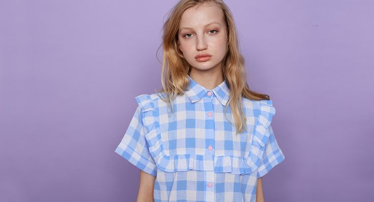 Lazy Oaf Ruffle Gingham Shirt - Everything - Categories - Womens