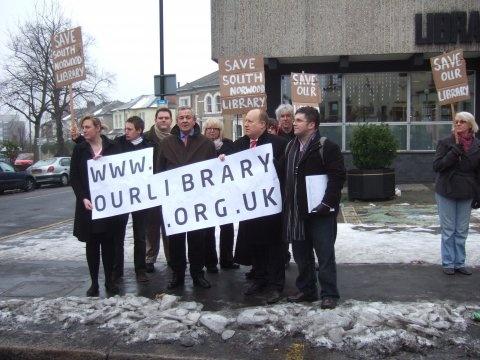 Protesting at South Norwood