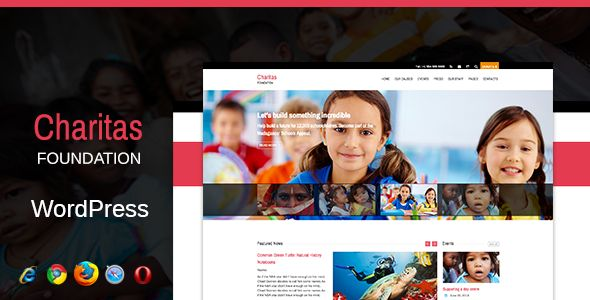 Charitas / Foundation WordPress Theme/