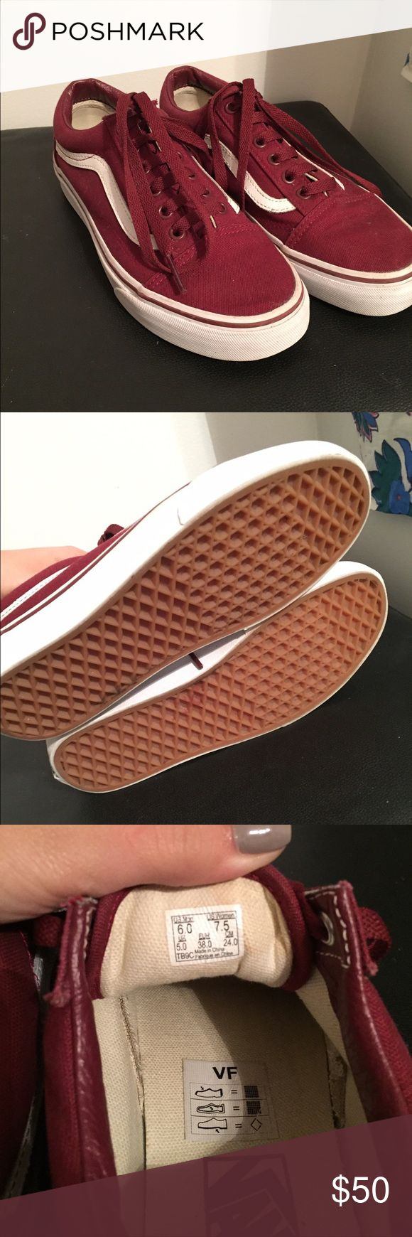 New Vans Maroon low sk8 vans Vans Shoes Sneakers