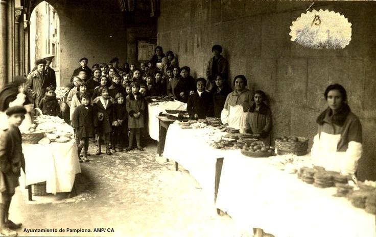 Festividad de San Blas, 1925 #Pamplona.  Imagen del Archivo Municipal de Pamplona, Colección Arazuri