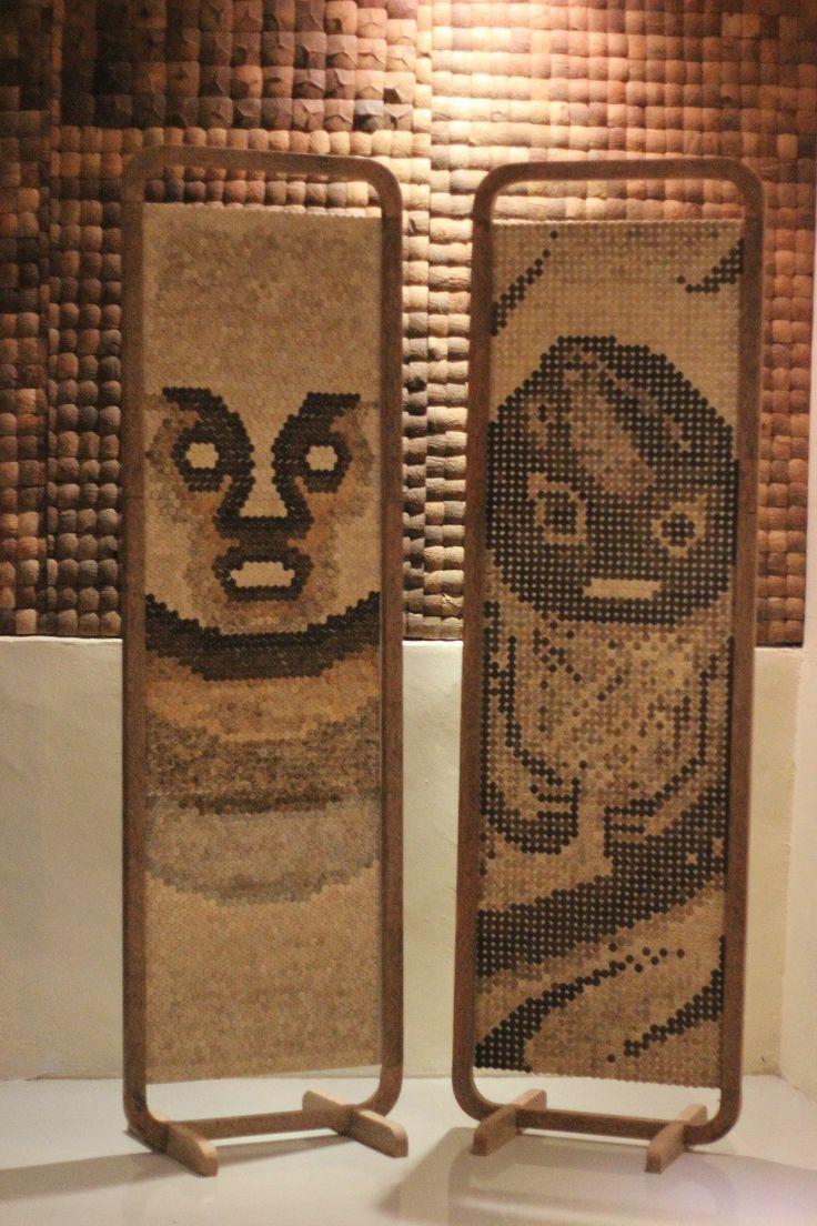 Mosaic coconut art