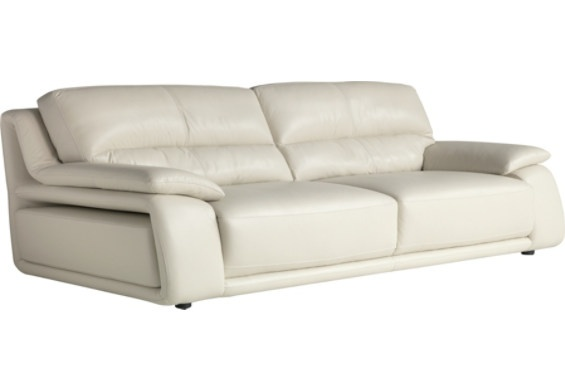 Chateau d'Ax 100% Genuine Leather Sofa - Ivory | Furniture, Living rooms  and Bustle - Chateau D'Ax 100% Genuine Leather Sofa - Ivory Furniture, Living