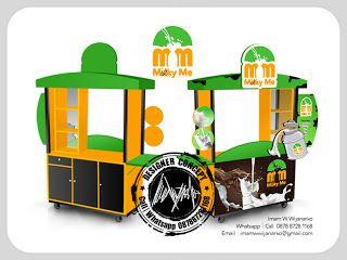 Desain Logo | Logo Kuliner |  Desain Gerobak | Jasa Desain dan Produksi Gerobak | Branding: Desain Gerobak Milky Me