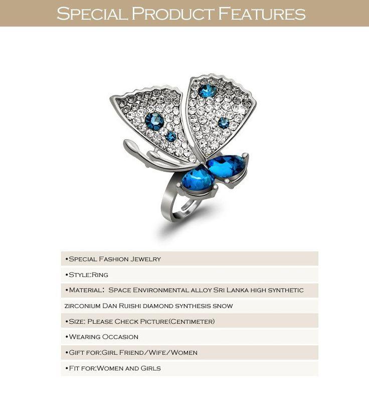 Aliexpress.com: Купить Специальный новинка обручальные кольца большая бабочка дизайн кольца бесплатная доставка подарки для девочек женщины девушки JZ150509 из Надежный подарки западной поставщиков на Special Fashion Jewelry