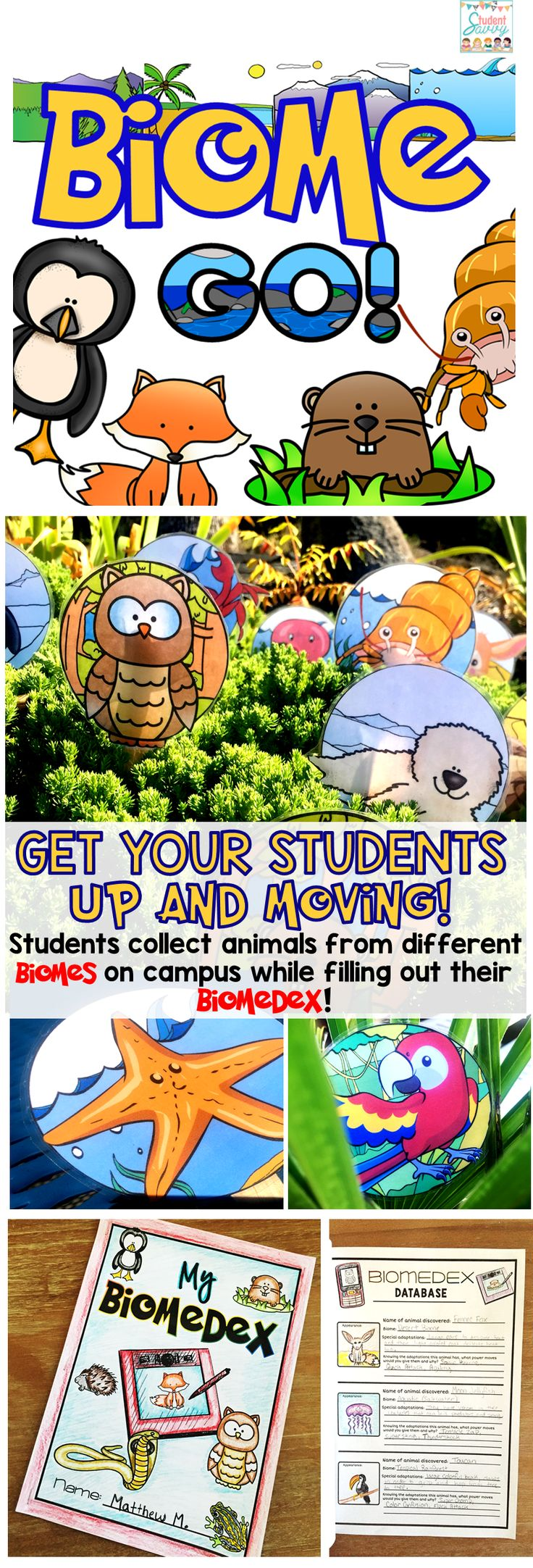 What a fun way for students to learn about biomes and animal adaptations!                                                                                                                                                                                 More