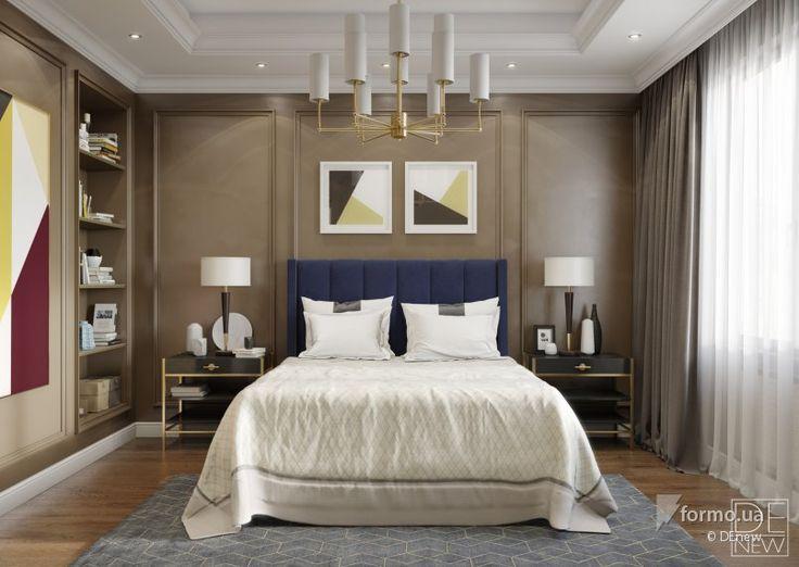 Шоколадная спальня, DEnew, Спальня, Дизайн интерьеров Formo.ua