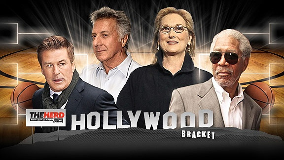 ESPN.com, go to Colin Cowherd's page and enter the Hollywood bracket.  Just for fun way to rate the actors in Hollywood, pitted against each other, just like the NCAA bracket!