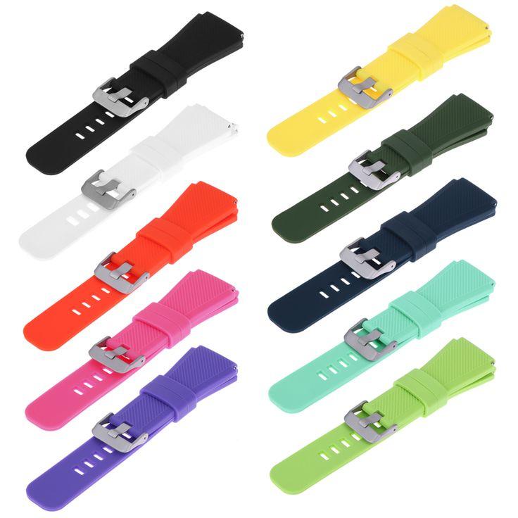 10 colores 22mm deportes de silicona pulsera correa band para samsung gear s3 smart watch regalo perfecto para sus amigos