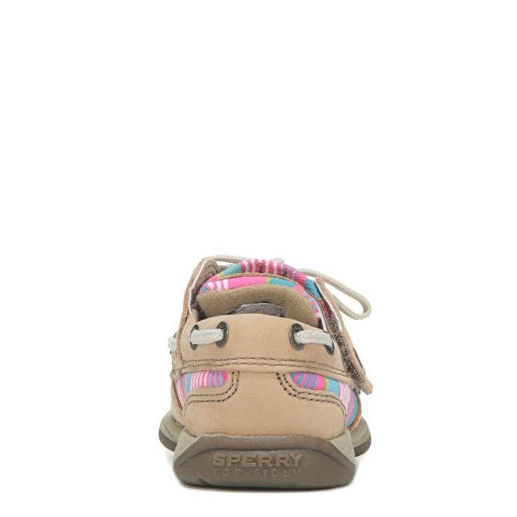 Sperry Top-Sider Kids' Intrepid Jr Leather Boat Shoe Toddler/Preschool Shoes (Tan/Multi) - 10.5 M