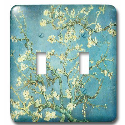 3drose Van Gogh Painting 2 Gang Toggle Light Switch Wall Plate Theme Branhes Of An Almond In 2021 Light Switch Covers Diy Light Switch Plate Cover Light Switch Covers