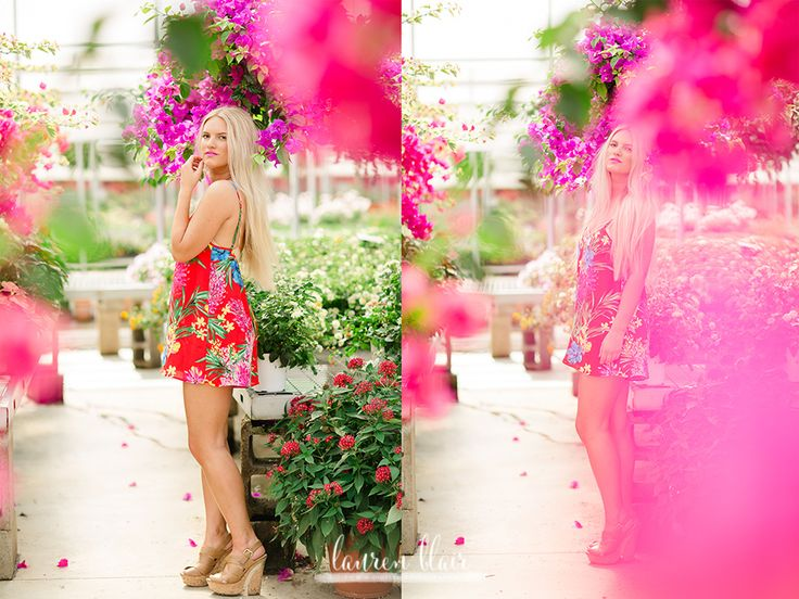 flowers, greenhouse, Show me Your Mumu, pink flowers, senior pictures, Fayetteville seniors