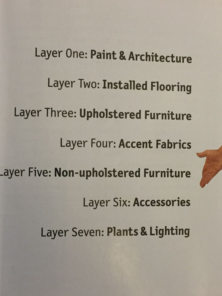 Christopher Lowell's 7 Layers of Design.