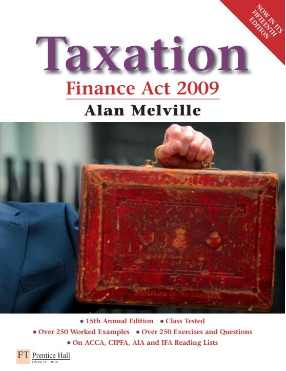 This comprehensive and popular annual textbook provides students of UK taxation with a thorough knowledge of: Income tax, Corporation tax, Capital gains tax, Inheritance tax and Value added tax.